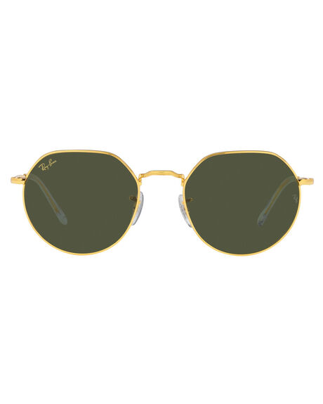 GOLD GREEN MENS ACCESSORIES RAY-BAN SUNGLASSES - 0RB3565919631