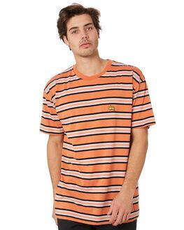 RUST MENS CLOTHING STUSSY TEES - ST092100RUST