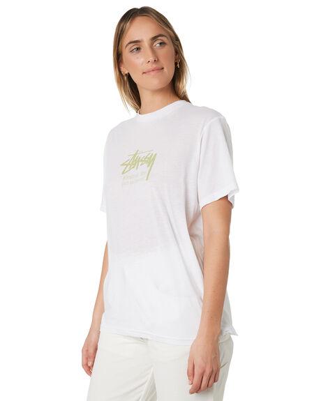 WHITE WOMENS CLOTHING STUSSY TEES - ST191011WHI