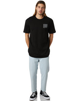 BLACK MENS CLOTHING STUSSY TEES - ST087019BLK