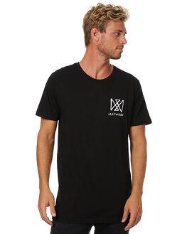 BLACK MENS CLOTHING MAYWOOD TEES - MWT-004_BLK