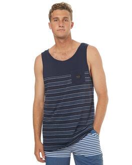 NAVY BLAZER FULLTIDE MENS CLOTHING QUIKSILVER SINGLETS - EQYKT03596BYJ3