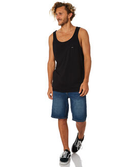 BLACK MENS CLOTHING RIP CURL SINGLETS - CTELO20090
