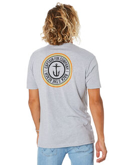 HEATHER GREY MENS CLOTHING CAPTAIN FIN CO. TEES - CT194005HGY