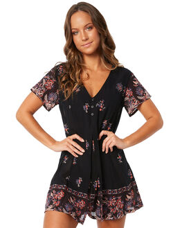 BLACK WOMENS CLOTHING THE HIDDEN WAY PLAYSUITS + OVERALLS - H8183442BLK
