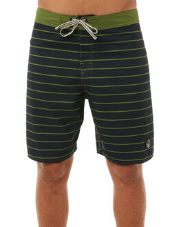 OLIVE MENS CLOTHING CAPTAIN FIN CO. BOARDSHORTS - CFM0411608OLI