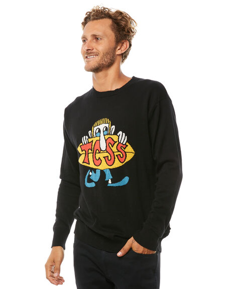 BLACK MENS CLOTHING THE CRITICAL SLIDE SOCIETY JUMPERS - KT1807BLK