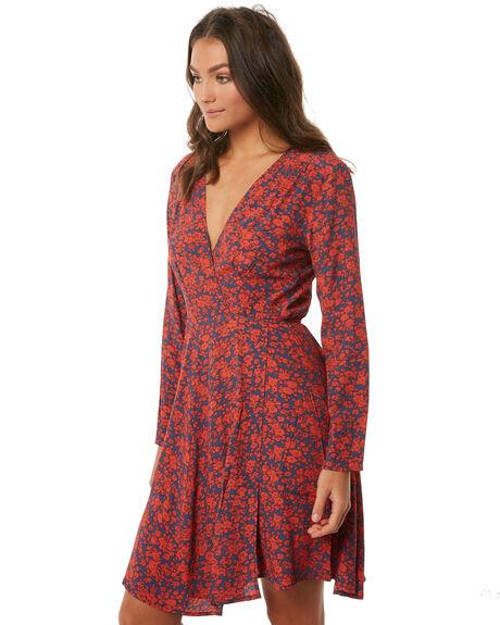 NAVY BLOSSOM WOMENS CLOTHING ROLLAS DRESSES - 12546NAVY