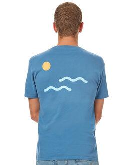 SEA BLUE MENS CLOTHING OAKLAND SURF CLUB TEES - F17-103-BLUSBLU