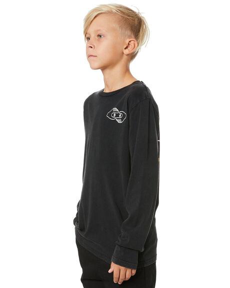 VINTAGE BLACK KIDS BOYS ALPHABET SOUP TOPS - AS-KLA8402BVNBLK
