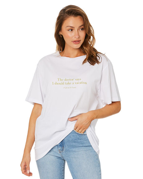 WHITE WOMENS CLOTHING CHARLIE HOLIDAY TEES - TUW1004WHT