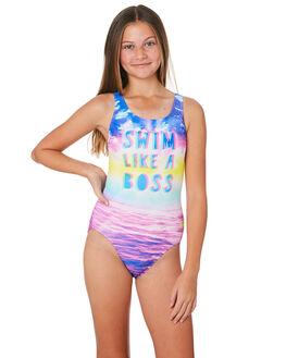 BOSS ORCHID KIDS GIRLS SPEEDO SWIMWEAR - 42H30-7633MUL