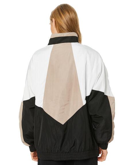 BLACK WOMENS CLOTHING STUSSY JACKETS - ST106706BLK