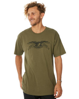 MILITARY GREEN MENS CLOTHING ANTI HERO TEES - BEAGLETMIL