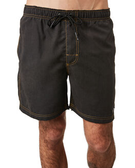 BLACK MENS CLOTHING RUSTY BOARDSHORTS - BSM1396BLK