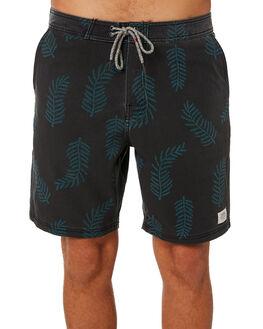 BLACK WASH MENS CLOTHING KATIN BOARDSHORTS - TRKEL02BLK