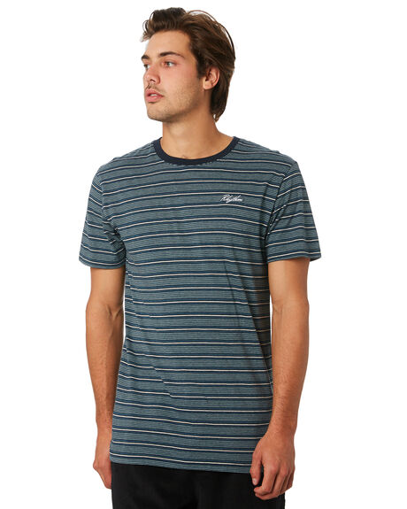 TEAL MENS CLOTHING RHYTHM TEES - JUL19M-CT04-TEA