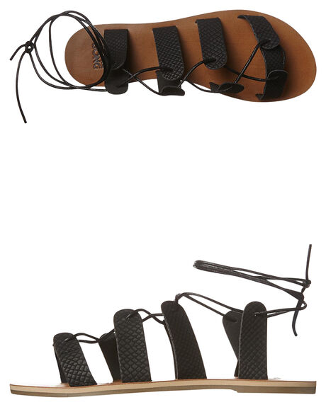 OFF BLACK WOMENS FOOTWEAR BILLABONG FASHION SANDALS - 6661851BLK