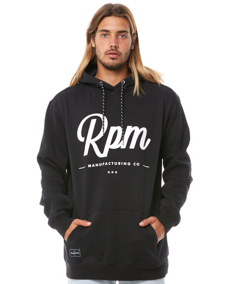 BLACK MENS CLOTHING RPM JUMPERS - 8AMT20ABLK