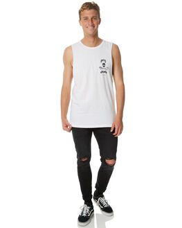 WHITE MENS CLOTHING SEA SHEPHERD SINGLETS - SSA803BWHT