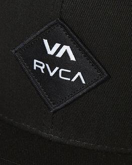 BLACK WHITE MENS ACCESSORIES RVCA HEADWEAR - R223608VBKWH