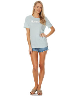 BLUE HAZE WOMENS CLOTHING HURLEY TEES - AGTSOTOMBHZ