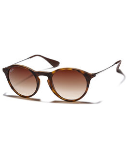 RUBBER HAVANA BROWN UNISEX ADULTS RAY-BAN SUNGLASSES - 0RB42434986513