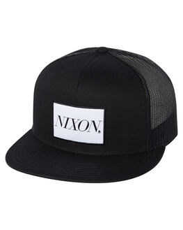 BLACK MENS ACCESSORIES NIXON HEADWEAR - C2914000