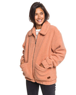 CAFE CREME WOMENS CLOTHING ROXY JACKETS - ERJPF03051-TJB0