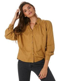 GOLDEN YELLOW WOMENS CLOTHING THRILLS FASHION TOPS - WTW9-205KGYEL
