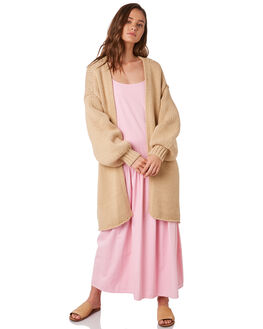 CAMEL WOMENS CLOTHING ZULU AND ZEPHYR KNITS + CARDIGANS - ZZ2850CCAMEL