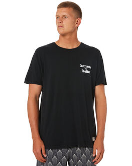 BLACK MENS CLOTHING KATIN TEES - TSKMA00BLK