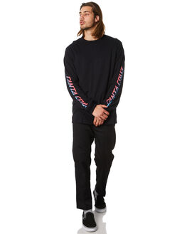 BLACK MENS CLOTHING SANTA CRUZ TEES - SC-MLC8955BLACK
