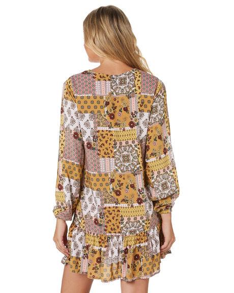 TERRA WOMENS CLOTHING RUSTY DRESSES - DRL1032TEA