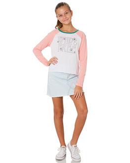 WHITE PINK KIDS GIRLS EVES SISTER TOPS - 9530018PNK