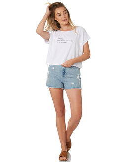 WHITE WOMENS CLOTHING ALL ABOUT EVE TEES - 6426141WHI