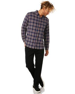 NAVY BLUE MENS CLOTHING RUSTY SHIRTS - WSM0848NVB