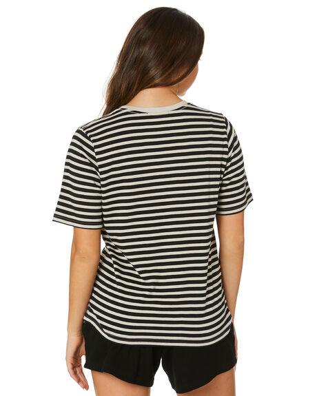 BLACK GREY WOMENS CLOTHING RPM TEES - 21PW04BBGRY