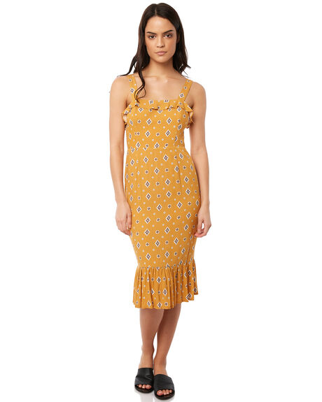 MUSTARD OUTLET WOMENS TIGERLILY DRESSES - T381421MUS