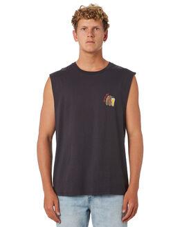 PIGMENT BLACK MENS CLOTHING BARNEY COOLS SINGLETS - 134-CC4PGBLU
