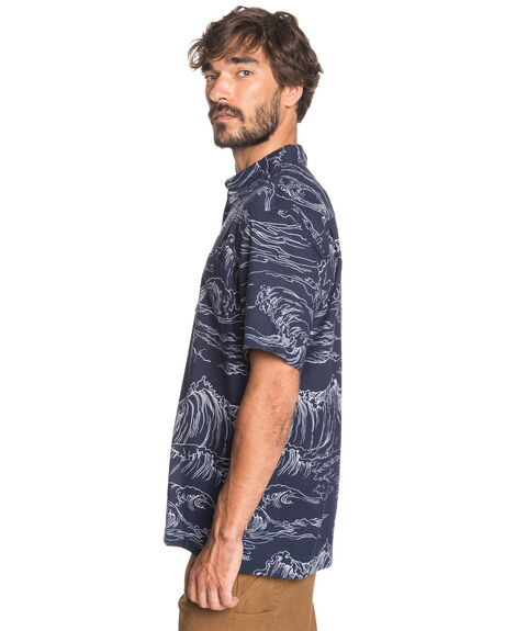 MIDNIGHT NAVY MENS CLOTHING QUIKSILVER SHIRTS - EQMWT03345-BSL6