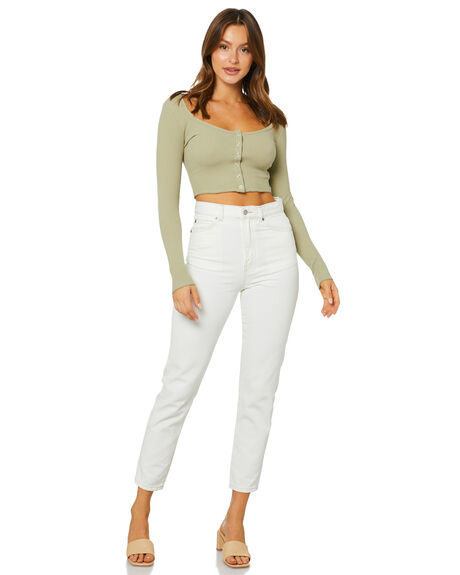 WASHED SAGE WOMENS CLOTHING NUDE LUCY TEES - NU23902WSAGE