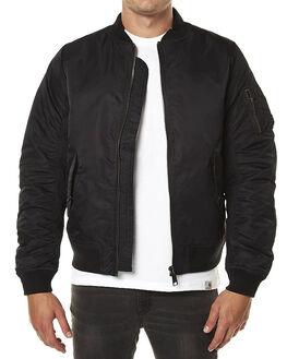 BLACK MENS CLOTHING CARHARTT JACKETS - I016787-89-90BLK