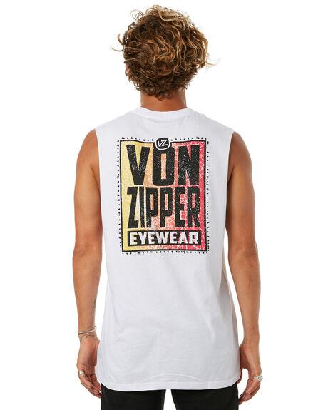 WHITE MENS CLOTHING VONZIPPER SINGLETS - 3972501WHT