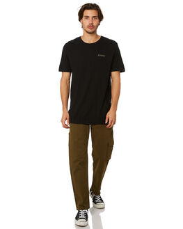 BLACK MENS CLOTHING AFENDS TEES - M191015BLK