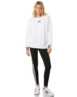 WHITE WOMENS CLOTHING ADIDAS JUMPERS - ED5847WHT