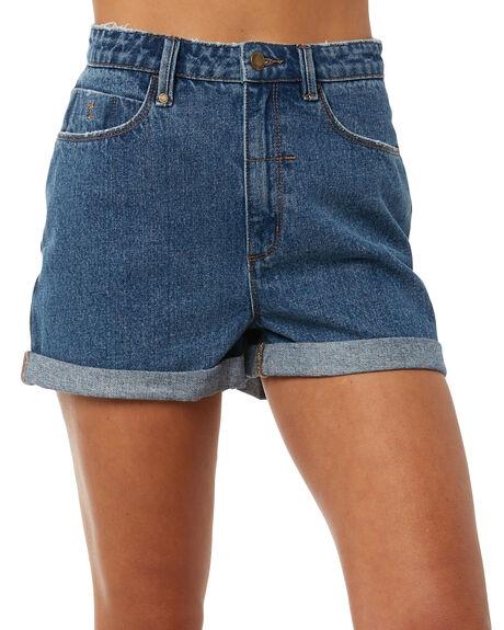 VINTAGE BLUE WOMENS CLOTHING THRILLS SHORTS - WTDP-321VEVIN
