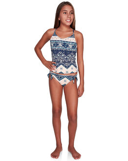 MED BLUE NEWPORT KIDS GIRLS ROXY SWIMWEAR - ERGX203214-BTE7