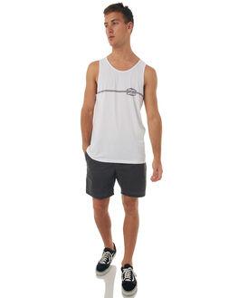 WHITE MENS CLOTHING QUIKSILVER SINGLETS - EQYZT04674WBB0