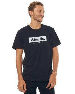 BLACK MENS CLOTHING AFENDS TEES - 01-01-267BLK